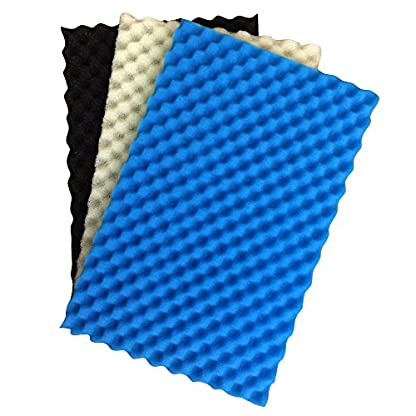 "Pond Foam Filter Media Pack (Set of 3) 17"" x 11"" Coarse, Medium and Fine. 1"
