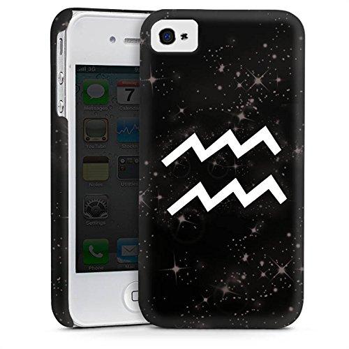 Apple iPhone 4 Housse Étui Silicone Coque Protection Signes du zodiaque Verseau Futur Cas Premium mat