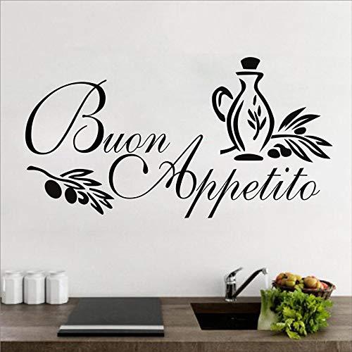 Buon Appetito Adesivo Murale Italienische Home küche Wandaufkleber Art Design Vinyl Aufkleber Für Esszimmer Hause 75 * 38 cm