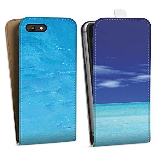 Apple iPhone X Silikon Hülle Case Schutzhülle Karibik Meer Segelboot Downflip Tasche weiß