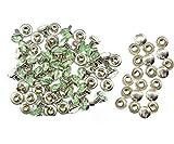 8mm Diamant Niet Bolzen für Leder Basteln mit Bunt Acryl Strasssteine - Perfekt für Riemen, Beutel oder Hundehalsband von Trimming Shop (Pack 10) - Mintgrün, 8mm