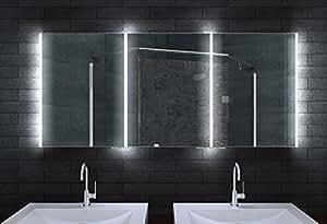 Alu Badschrank badezimmer spiegelschrank bad LED