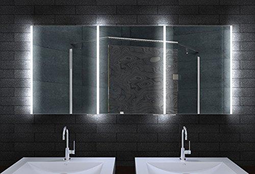 Alu Badschrank badezimmer spiegelschrank bad LED Beleuchtung 160 x 70cm MLA16700