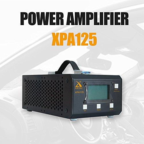 Xiegu XPA125 HF Radio Endstufe 125W 0.5 ~ 50MHz QRP ALC LC Automatische Antenne Tuner Funktion 1.8-30M (Schwarz)