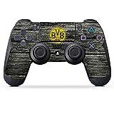 DeinDesign Sony Playstation 4 Controller Folie Skin Sticker aus Vinyl-Folie Aufkleber Borussia Dortmund BVB Holzoptik
