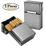 Étuis à cigarettes, Ubegood Porte-cigarettes Rangement de Cigarettes Cigarette Argent Boîte cigare housse Cigarette Case, 2 Porte
