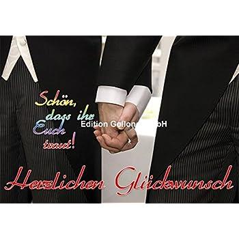 gleichgeschlechtlich Mann /& Mann Model Sakko Gl/ückwunschkarte Hochwertige Hochzeitskarte