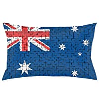 "Bikofhd Australia Flag Puzzle Pillowcases Decorative Pillow Covers Soft and Cozy, Standard Size 20""x30"" with Hidden Zipper"