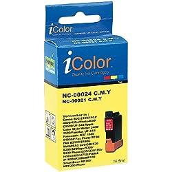 iColor Nashuatec P 293: Patrone für CANON (ersetzt BCI-24C/21C), color (Savin Savinfax 3615 C)