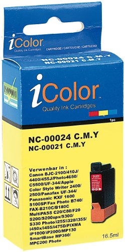 Preisvergleich Produktbild iColor Druckerpatronen: Patrone für CANON (ersetzt BCI-24C/21C), color (Tintenpatronen)