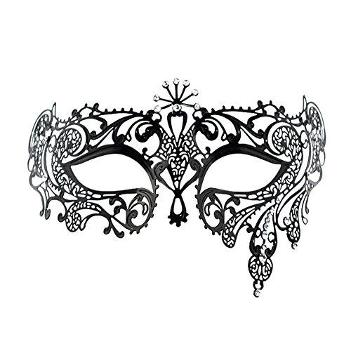 Musuntas Luxus-venezianischen Stil Metall Filigree Maskerade Maske für Frauen/Dame(mode 3)