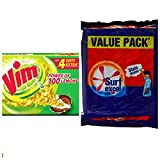 #10: SURF EXCEL VALUE PACK (4 SOAP OF 200GM)+ VIM BAR(4 SOAP OF 120GM)