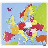 Goki - 2041655 - Puzzle de Madera - Europa - 35 Piezas