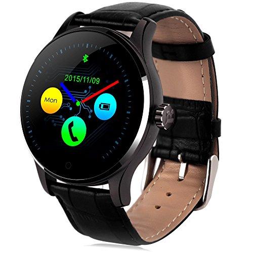 GBlife Orologio da polso Uomo Bluetooth 4.0 di cardiofrequenzimetro per Android+IOS Smartwatch