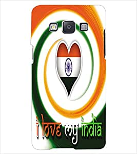 ColourCraft Indian Flag Back Case Cover for SAMSUNG GALAXY E5