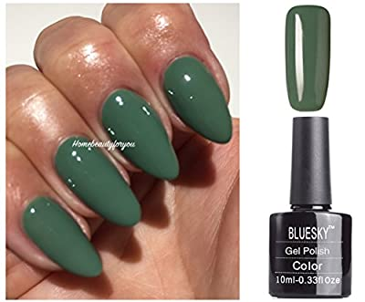Bluesky 63929 Green Autumn Winter Nail Gel Polish UV LED Soak Off 10ml PLUS 2 Luvlinail Shine Wipes