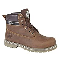 Woodland Mens 6 Eye Padded Utility Boots