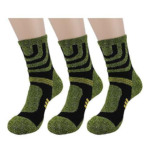 Waymoda 3 Pairs Unisex Sports Socks, Quick Drying, Breathable, Elastic Compression Strip & Non Slip buffer Liner, Outdoor Running Hiking Camping Trekking Athletic Crew Sox,Men Women UK 3-8/EUR 36-41
