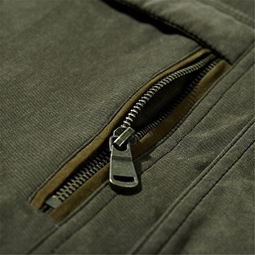 Uomo cappotto   Cappotti da uomo   vestiti di cotone di formato aumentato   tappi rimovibili   Vestiti da uomo   Abbigliamento uomo cotone Military color