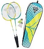 Talbot Torro Unisex - Adulto 2-Fighter Badminton e Federball Set Petrol-Gelb One Size