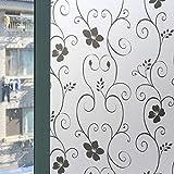 Fensterfolie Sichtschutzfolie Blickdicht Sichtschutz Selbstklebend Bad Klebefolie 45x200cm