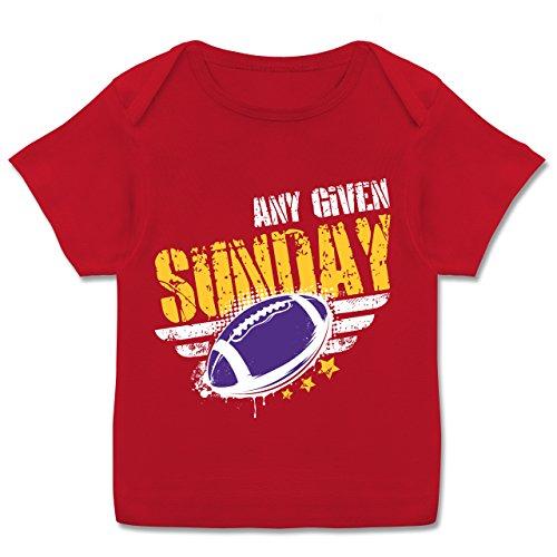 Shirtracer Sport Baby - any Given Sunday Football Minnesota - 56-62 (2-3 Monate) - Rot - E110B - Kurzarm Baby-Shirt für Jungen und Mädchen in Verschiedenen Farben (Minnesota Vikings-kinder T-shirts)