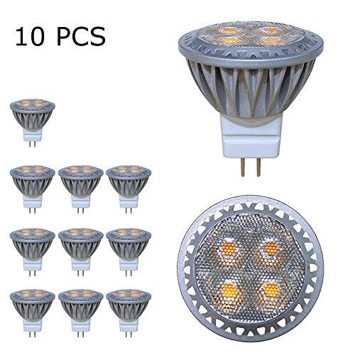 Baoming GU43W 12V MR11Ampoule LED égale à ampoule halogène 35W 280LM 30° Angle de faisceau Blanc froid 6000K Lot de 10unités