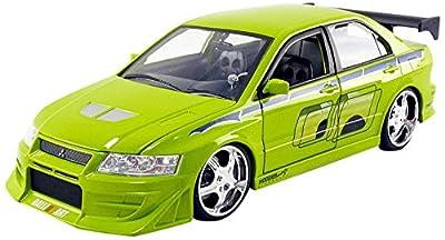 Jada Toys–Miniatur Auto Mitsubishi Lancer Evo VII Brian Fast and Furious Maßstab 1/24, 99788G, grün von JADA TOYS
