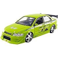 Jada Toys - Miniature Voiture Mitsubishi Lancer Evo Vii Brian Fast and Furious Echelle 1/24, 99788GR, Vert