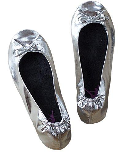 Ballerina2Go - Pantofole Donna Argento