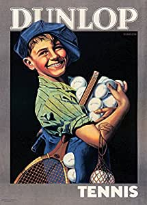 Vintage Tennis DUNLOP RACKETS AND BALLS c1920's 250gsm Gloss ART CARD A3 Reproduction Poster by World of Art