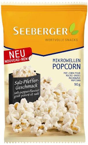 Seeberger Mikrowellen-Popcorn Pfeffer plus Salz, 90 g