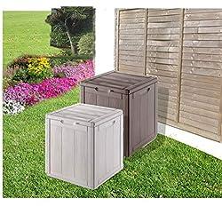 groundlevel.co.uk Impressionnante Boîte de Rangement de Jardin résistant aux intempéries-Gris Petite.