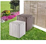 groundlevel.co.uk Amazing Weatherproof Outdoor Garden Storage Box - Grey Small