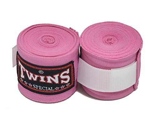 Twins Special Muay Thai Boxing Hand Wraps aus Baumwolle Solid Farbe Pink -