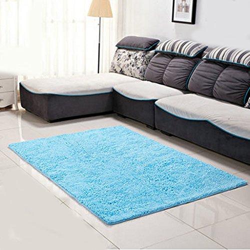 Chenille Bad mit Wasser rutschigen Wohnzimmer Sofa Schlafzimmer mit maschinenwaschbaren Teppich A+ ( Farbe : Blauer himmel , größe : 120*200cm ) -