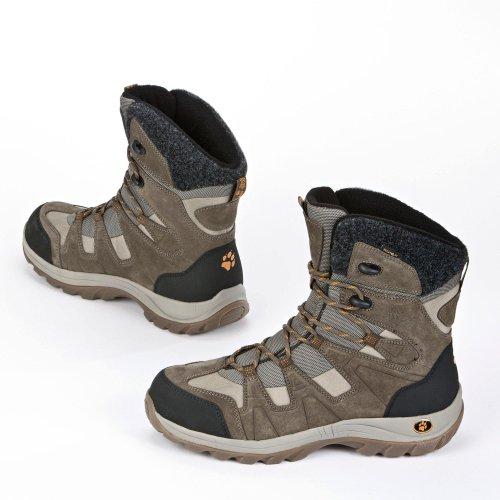 Jack Wolfskin ICY PARK TEXAPORE Stivali invernali da uomo - Dark Stone