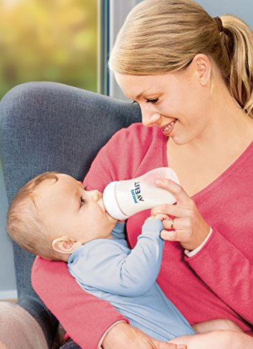 Philips AVENT Natural SCF693/37 Feeding Bottle, 260 ml – Transparant, Pack of 3