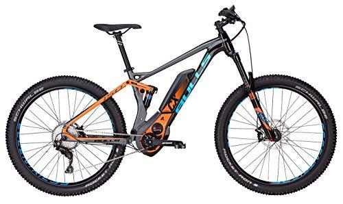 Bulls E-Mountainbike SIX50+ E FS 3 - E-Bike 27.5+ Zoll - Akku 500Wh - grau-orange
