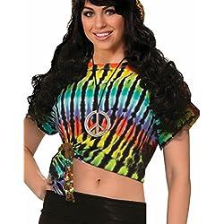 Forum Hippie Tie Dye Crop Top Shirt Standard (STD)