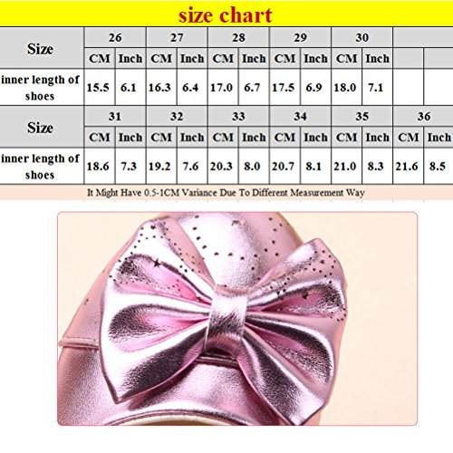 Zhhlinyuan Lovely Bowknot Princess Shoes Kids Girls Party Casual Shoes Hot C199 Black