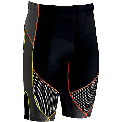 Cwx 74672, Stabilyx Ventilator shorts, Uomo, Black / Yellow / Orange, (Mens Comfort Nucleo)