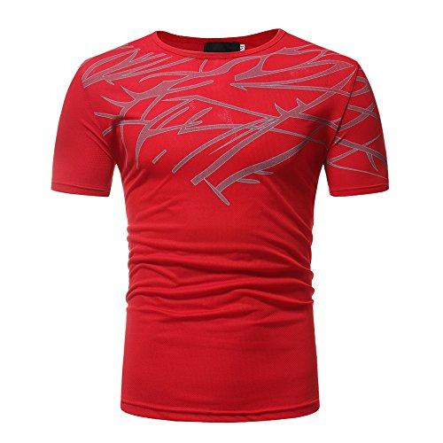 CICIYONER Herren T-Shirt Kurzarmshirt Top Print Shirt Casual Basic O-Neck M L XL XXL XXXL
