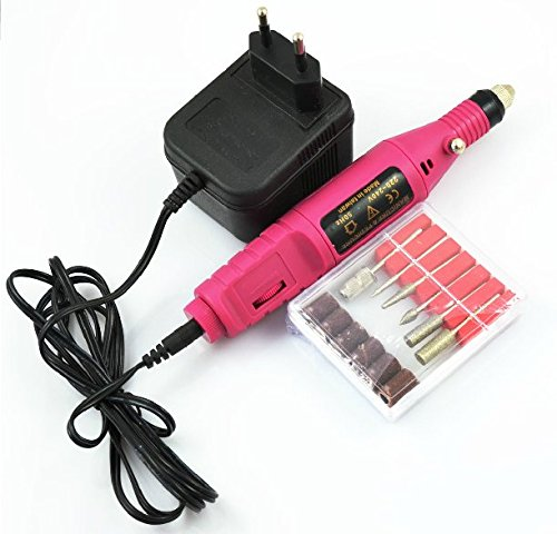 Pen Shape Electric Nail Drill Machine Art Salon Manicure File Polish Tool + 6Bits -