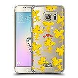 Head Case Designs Offizielle Peanuts Woodstock Persöhnlichkeiten Muster Soft Gel Hülle für Samsung Galaxy S7 Edge