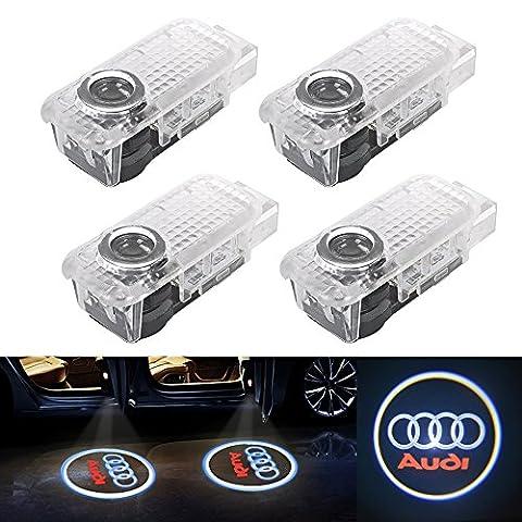 Lot de 4 LED 3D Porte de Voiture d'éclairage Lampe Haute Définition Logo Projection de Lumière