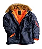 Alpha Industries Herren Parka blau XL
