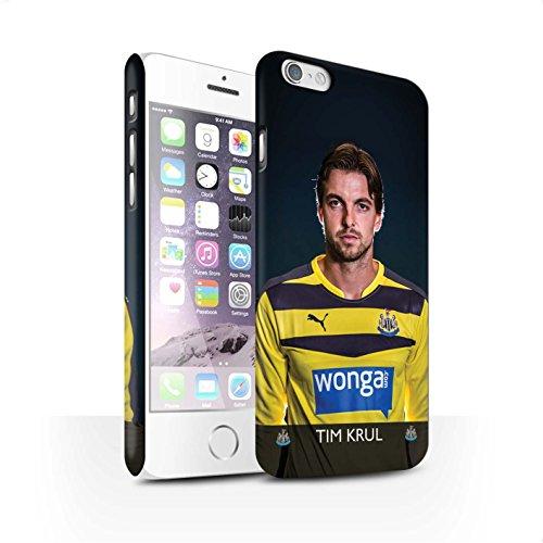Officiel Newcastle United FC Coque / Clipser Matte Etui pour Apple iPhone 6S / Pack 25pcs Design / NUFC Joueur Football 15/16 Collection Krul