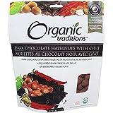 Organic Traditions - Avellanas oscuras del chocolate con el chile - 8 oz.