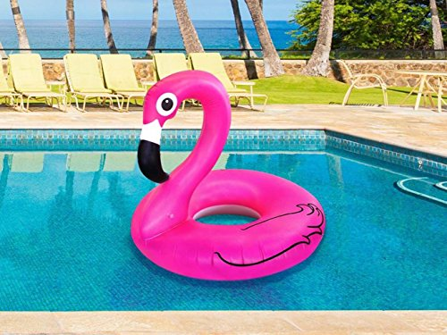 Ardisle Pink Inflatable Giant Flamingo Shaped Pool Float Ring Raft Swimming Water Lilo